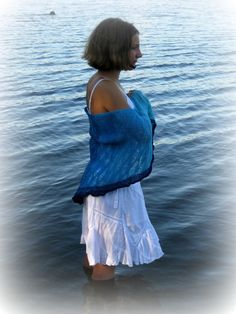 Ocean Serenade shawl knitting pattern by LismiKnits on Etsy, $4.50