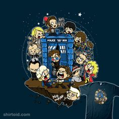 """""""Let's Play Doctor"""" by CoDdesigns and Italiux.  13 doctors and a TARDIS"""