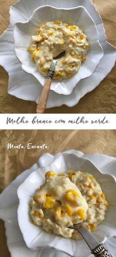 Molho branco com milho
