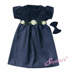 Navy Holiday Dress & Bow