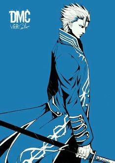 ) Devil May Cry Vergil Devil May Cry 4, Hack And Slash, Resident Evil, Game Character, Character Design, Vergil Dmc, Dmc 5, Fan Art, Video Game Art