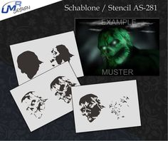 Step by Step Airbrush Stencil AS-281 M ~ Template ~ UMR-Design | Crafts, Art Supplies, Painting Supplies | eBay!