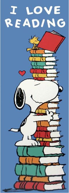 I Love Reading #Snoopy #Peanuts