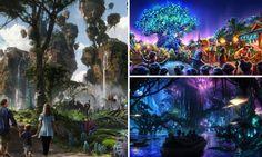 Welcome to Pandora: Disney to recreate Avatar's breathtaking lush intergalactic scenery at Florida theme park Avatar Land Disney, Lush Intergalactic, Avatar Theme, Florida Theme Parks, Dark Tree, Fantasy Landscape, Creative Art, Futuristic, Concept Art