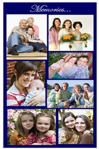 A photo collage can turn a plain funeral program into a treasured keepsake.  Family photos help remember your loved one, and help grieving friends and family remember good times.  Create your own program and add a beautiful collage.  It's Easy!