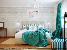Turquoise Rooms All White Bedroom Decor Scheme