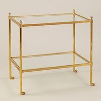 Vaughan Barford Rectangular Etagere in Brass and Glass