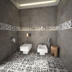 Grey Scale Floor Tile Decals.