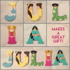 Disney Wooden Letters. Each letter is 3inches by IMadeThisCrafts