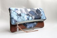 Fold over clutch leather clutch by Amayahandmade on Etsy, $37.00