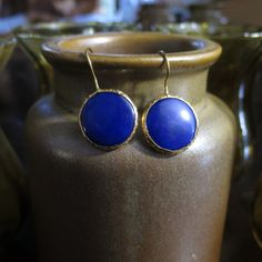 Boucles d'oreilles bleues marine by HurremSultanJewelry on Etsy