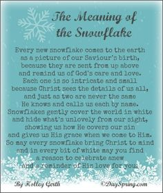 The Meaning of the Snowflake