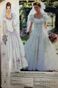 Wedding gown pattern from a 1994 McCall's catalog. #mccalls #vintagesewing #vintagebride