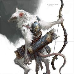 Skaven, white rat archer. Conheça as concepts do artista Yang Qi