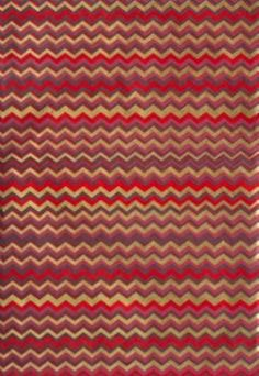 Chevrons in rich Red, Magenta & Gold