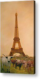Eiffel Tower Paris Texas  by DK Richardson - Eiffel Tower Paris Texas  Painting - Eiffel Tower Paris Texas  Fine Art Prints and Posters for ...