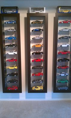 Die Cast Cars/cool shelving.