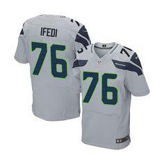 c5211d6e4 Nike Seattle Seahawks Marshawn Lynch Gray C Patch Elite Jersey