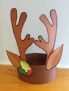 Reindeer on pinterest reindeer craft reindeer hat and reindeer