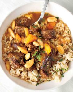 Beef Stew with Almonds and Dried Fruit Recipe