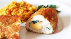 Chicken rolls with cheese and herbs- Chicken rolls with cheese and herbs Ingredients: 🍅 Chicken fillet 2 pcs 🍅 Hard cheese 50 g 🍅 Olive oil tbsp. l 🍅 Parsley (greens) 1 bunch 🍅 Mustard goth … # Russian # cuisine # are prepared Baby Food Recipes, New Recipes, Favorite Recipes, Kitchen Queen, Bread Crumbs, Good Food, Rolls, Cheese, Herbs