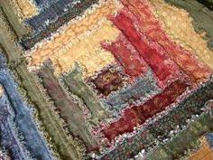 Log cabin rag quilt