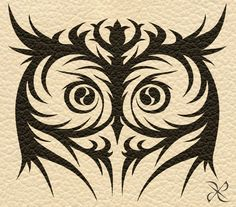 Commission - Owl Tribal Tattoo by ~scificat on deviantART