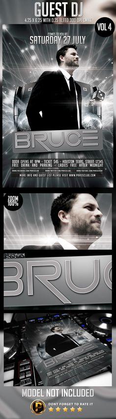 Guest DJ Flyer Template Vol 4 on Behance