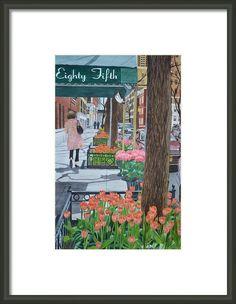 Painting the New York street, watercolor by Swati Singh  #painting #watercolorpainting #watercolourpainting #watercolor #watercolour #art #buy #watercolourflowers www.swatisinghstu... #realism #newyork