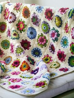 podkins:  Wow. This is magical! The pattern can be found in the following book available via the Book Depository: Crocheted Throws and WrapsBy Melody Griffiths. I'm tempted to buy just because I LOVE this so much!