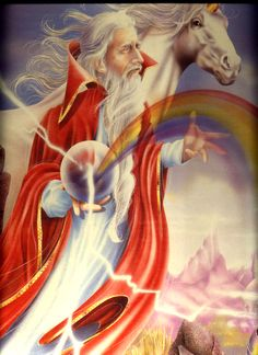 wizard unicorn rainbow