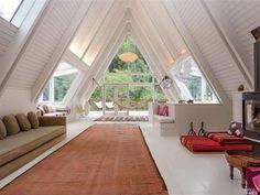 a-frame cabin home windows.jpg a-frame cabin home windows. Interior Architecture, Interior And Exterior, Triangle House, Home Design, Interior Design, Modern Interior, Design Design, Casas Containers, Cozy Cabin