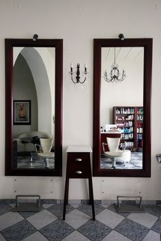 Interior and furniture design of a hair saloon on Tinos, Greece