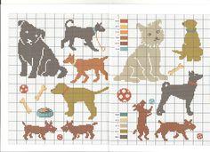chien * point de croix * cross stitch dog