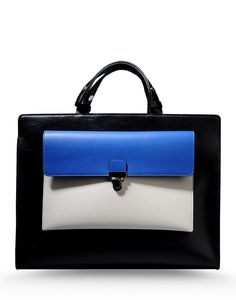 Marni Tri-Color Tote - Black Tote - ShopBAZAAR