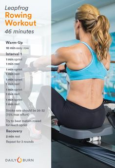 3 Rowing Machine Workouts for Strength and Endurance Fitness Studio Training, Cardio Training, Rower Workout, Gym Workouts, Health And Fitness Articles, Fitness Tips, Hiit, Indoor Rowing, Gym Routine