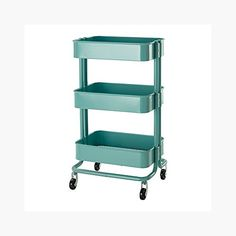 RASKOG Home Kitchen Bedroom Storage Utility Cart Turquoise. Shopswell | Shopping smarter together.™