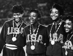 Wilma Rudolph, Lucinda Williams, Barbara Jones, and Martha Hudson won the gold medal at the 1960 Olympics in the Relay. African American Women, African Americans, American History, Women In History, Black History, Summer Olympics, Usa Olympics, Flo Jo, Wilma Rudolph