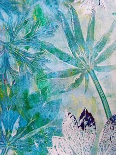 Sanneke Griepink - Gelli printing workshop ( Amsterdam Oud Zuid ) July 5th