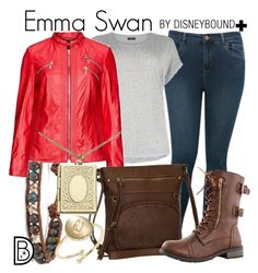 Emma Swan by leslieakay on Polyvore featuring polyvore fashion style M&Co Chan Luu Monsoon Kate Spade Kirsten Moden clothing disney disneybound plussize