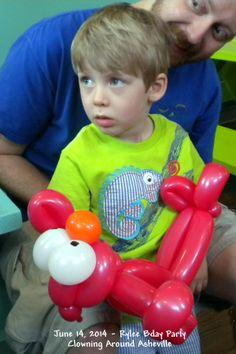 Elmo Balloon Twisting Art Clowning Around Asheville