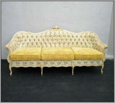 French Provincial Sofa Reupholstered - Meltdownetc.com #k16MGMKLEx