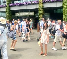 WIMBLEDON A Guide On What To Wear. What to do when you are inside. I wanted to share with you some tips we took before travel to the west of london, hope you enjoy! Tennis Tournaments, Greater London, High Class, Striped Linen, Buy Tickets, Wimbledon, What To Wear, Pineapple, In This Moment