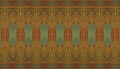 "I'm loving this new frieze wallpaper from Bradbury & Bradbury! ""Chicago"" is inspired by Louis Sullivan."