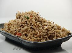 Black Pepper Rice - Black peppercorns add a special zing to this flavourful rice.