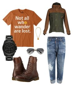 Casually flee. by mrmcflee on Polyvore featuring polyvore, Life is good, Dsquared2, Filson, Dr. Martens, Michael Kors, Ray-Ban, Versace, men's fashion, menswear and clothing