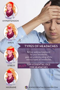 Essential Oils aid Headaches of all kinds, such as Migraines, Stress Headaches, Tension Headaches, and Sinus Headaches. Find out which Essential Oils can help bring relief. #essentialoilhaven #essentialoils #aromatherapy #headaches #homeremedies
