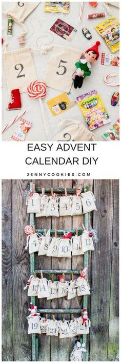 11 Easy DIY Advent Calendar Ideas Diy christmas advent calendar