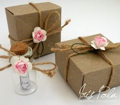Secret message, Bottle, Bridesmaid, Wedding, Favor, ECO, Paper Kraft, Origami Box, Will you be my Bridesmaid