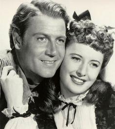 "Joel McCrea and Barbara Stanwyck in ""Union Pacific"", 1939"